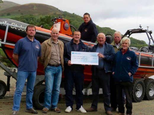 23 September: a total of £700 was raised at the LLAIA Fly Fishing Competition on 2 September. The LLAIA Chairman presented a cheque to the Loch Lomond Rescue Boat committe and crew which was very much appreciated.